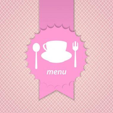 Pink frame menu design template stock vector