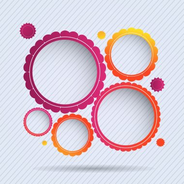 Collection of circle frames. Vector illustration. stock vector