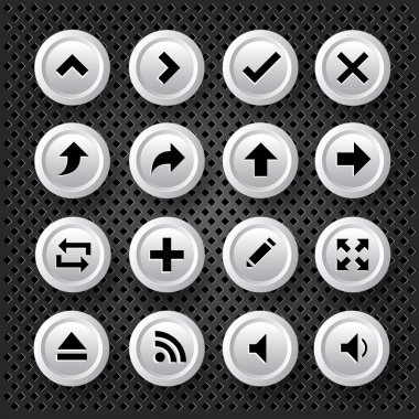 Arrows Icons Set, vector illustration stock vector