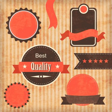 Vintage premium quality labels stock vector