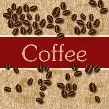 Coffee beans design, vector illustration stock vector