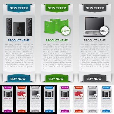 Website design template for buying computers and electronics stock vector