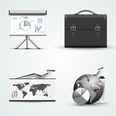 Four different business icons stock vector