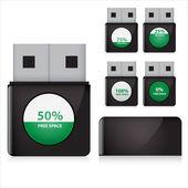 flash drive vector set