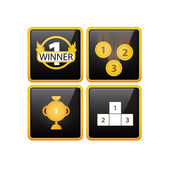 Díjak  Awards ikonok vektoros illusztráció