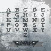 vector alphabet vintage style.