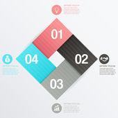 Steps process arrows vector illustration