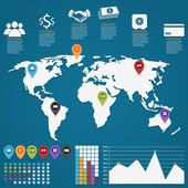Business infographic prvky vektorové ilustrace