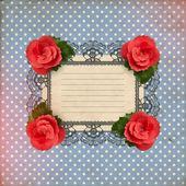 romantické květinové karta s vintage roses vektorové ilustrace