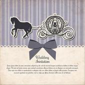 Vintage Pferdekutsche Einladung Vorlage Vektor Illustration