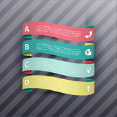 Steps process banners vector illustration