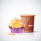 vector illustration of tea party set