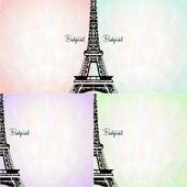 vektorové karta s Eiffelovou věží
