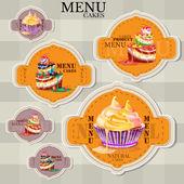 Vektor website design sablon kávézó és étterem