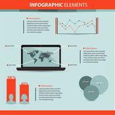 üzleti infographic elemek vektoros illusztráció