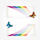 Butterfly Rainbow Trail. Vector illustration