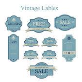 Vektor-Set von Vintage-Etiketten