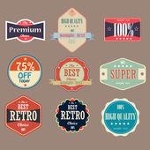 Vintage magas minőségű címkéket gyűjteménye