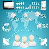 Geschäftsinfografische Elemente Vektorillustration
