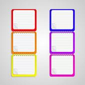 sada vektorové notebook