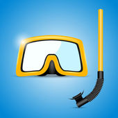 Scuba mask and snorkel - vector illustration