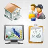 Business icons  vector illustration