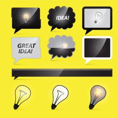 Idea light bulbs, vector illustration stock vector