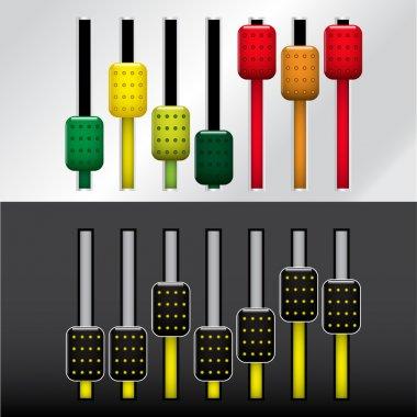 Sound control panel, vector illustration stock vector