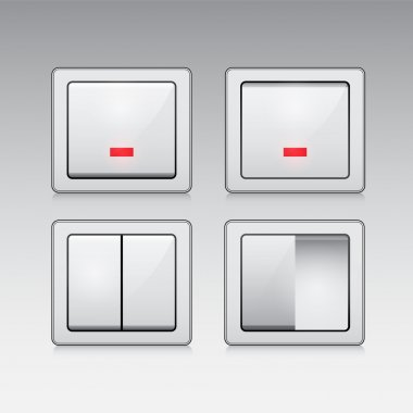 Electric switch web vector icon stock vector
