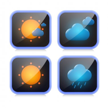 Weather icons, vector illustration stock vector