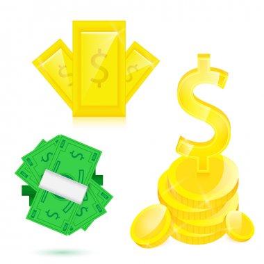 Money. Vector illustration set stock vector