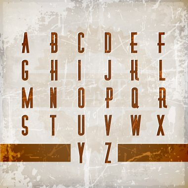 Vector alphabet vintage style. stock vector