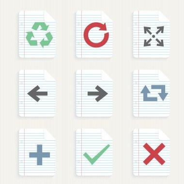 Arrows icons set vector illustration stock vector