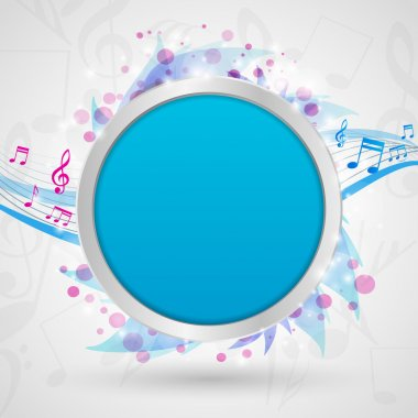 Musical notes background vector illustration stock vector