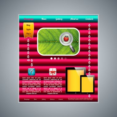 Modern web page template. Vector illustration stock vector