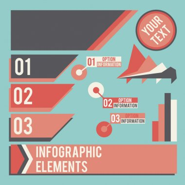 Business infographic elements vector illustration stock vector