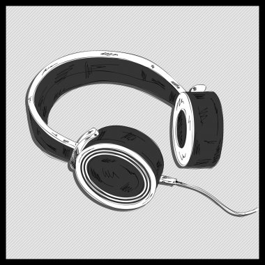 Headphones isolated  vector illustration stock vector