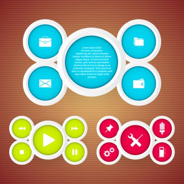 Set of web buttons vector illustration stock vector