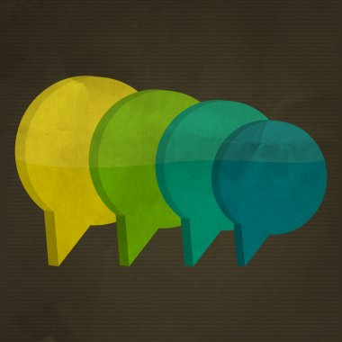 Colorful Speech Bubbles vector illustration stock vector