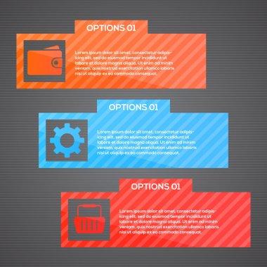 Vector web template - webpage vector illustration stock vector