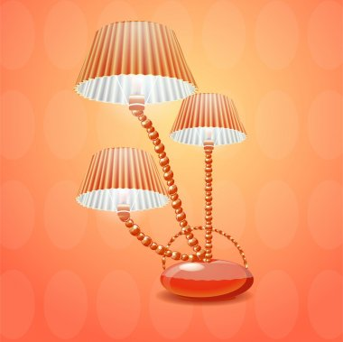 Lamp with shade. Vector illustration stock vector
