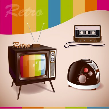 Retro Media. Vector illustration stock vector