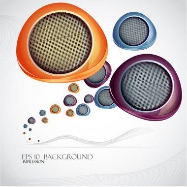Speakers seamless background vector illustration stock vector