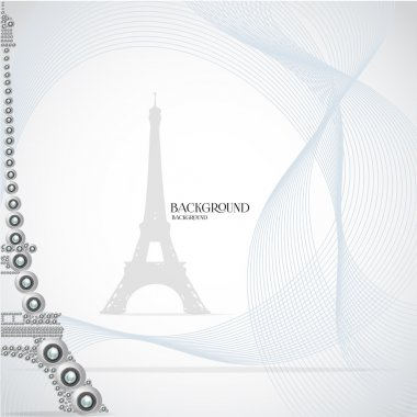 White eiffel tower made from webcam. Vector illustration stock vector