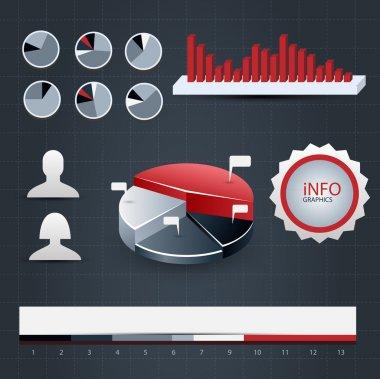 Infographics set vector illustration stock vector