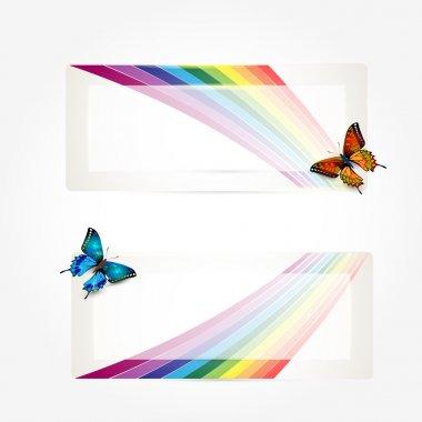 Butterfly Rainbow Trail. Vector illustration stock vector