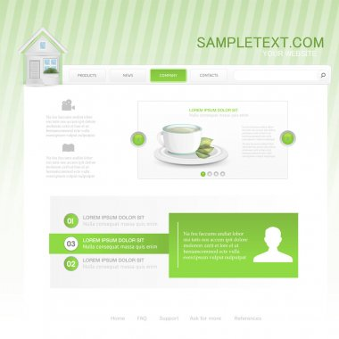 Vector website design template for cafe or restaurant stock vector