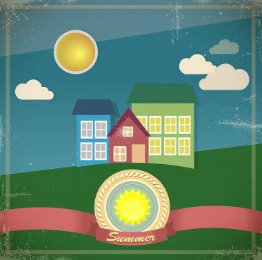 Summer House. Vector illustration stock vector