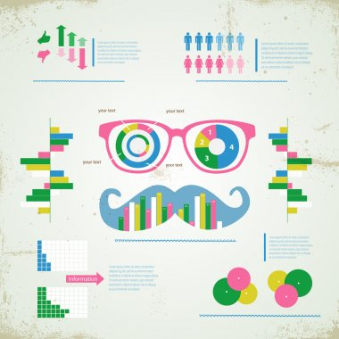 Hipster infographic vector illustration stock vector