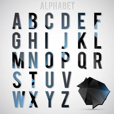 Alphabet set vector illustration stock vector